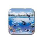 c Rubber Square Coaster (4 pack)