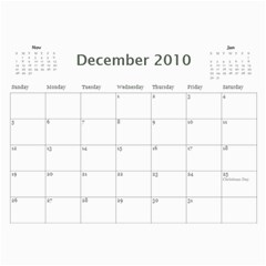 Photo Calender By Mary Stewart   Wall Calendar 11  X 8 5  (12 Months)   G1vxiv8amqzf   Www Artscow Com Dec 2010