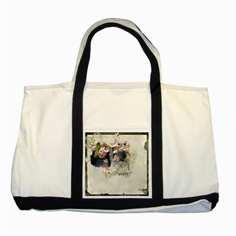 By Cate Sforza   Two Tone Tote Bag   Dtnsl78l8ign   Www Artscow Com Front