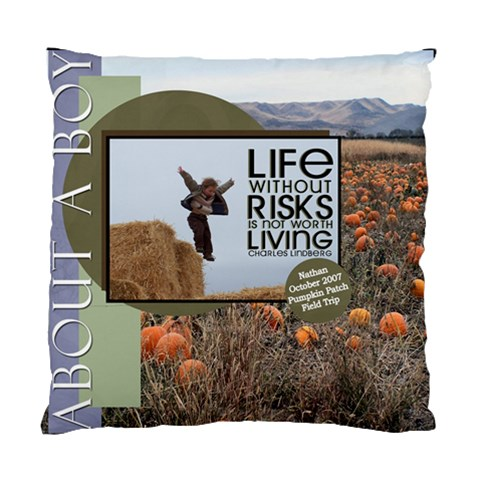 Nathan Cushion Case  By Anne   Standard Cushion Case (one Side)   Aezq0xd0kmib   Www Artscow Com Front
