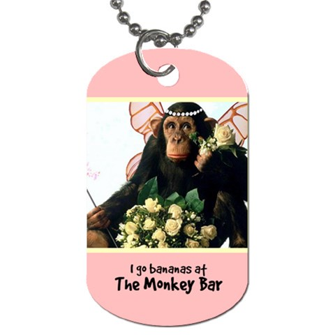 Monkey Bar  Tag 81 By Debra Macv   Dog Tag (one Side)   3zxa0jic71pw   Www Artscow Com Front