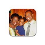 family coaster - Rubber Coaster (Square)