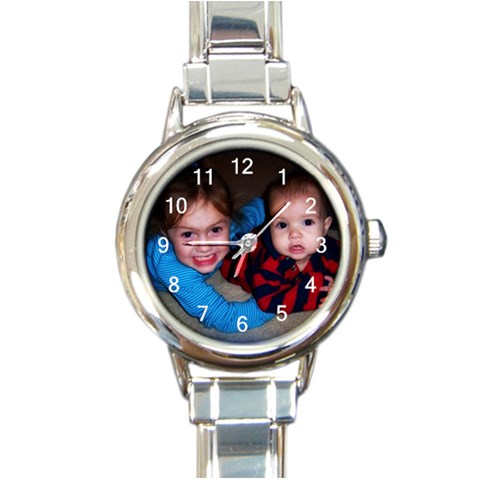 Grandma Watch By Stephanie   Round Italian Charm Watch   Us25xcki9lpq   Www Artscow Com Front