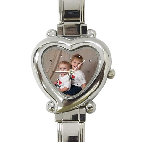 My New Watch By Shannon   Heart Italian Charm Watch   Lg3l1qu1acd6   Www Artscow Com Front
