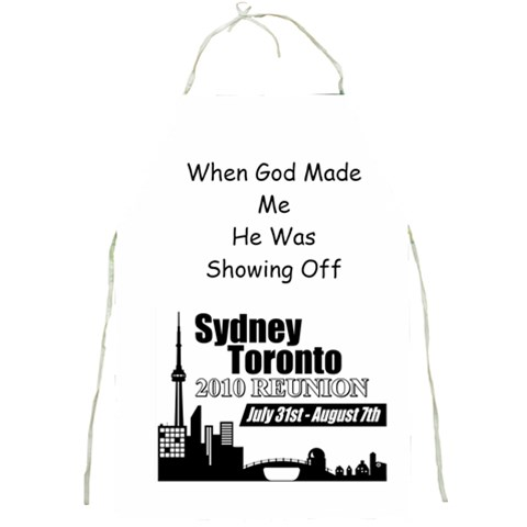 Sydney Toronto Reunion Apron Funny Quote 2 By Chantel Reid Demeter   Full Print Apron   Cl4982eojw22   Www Artscow Com Front