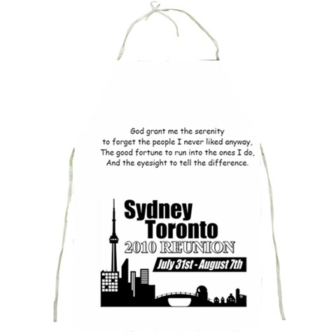 Sydney Toronto Reunion Apron Funny Quote 3 By Chantel Reid Demeter   Full Print Apron   J8k0787amn46   Www Artscow Com Front