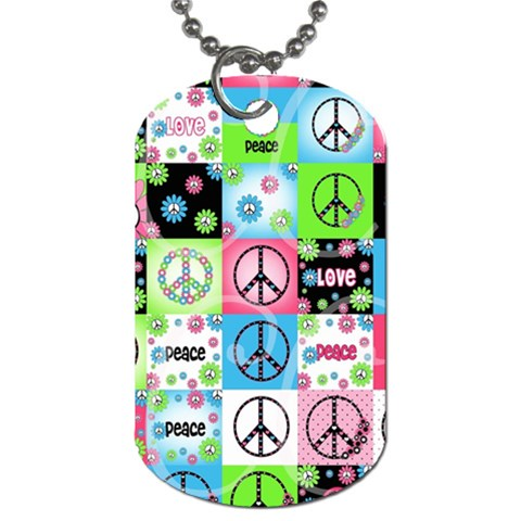 Peace By Sally Platt   Dog Tag (one Side)   Z49n6tt8v202   Www Artscow Com Front