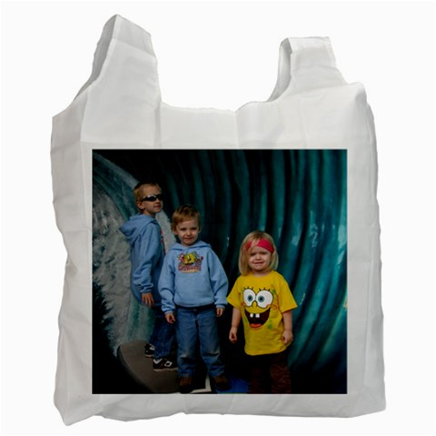 Reuseable Shopping Bags <3 By Elizabeth Lamont   Recycle Bag (one Side)   35hewlpcbnw0   Www Artscow Com Front
