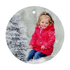 Emily Ornament By Lily Hamilton   Round Ornament (two Sides)   Gbbpyv0ui5ul   Www Artscow Com Front