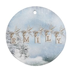 Emily Ornament By Lily Hamilton   Round Ornament (two Sides)   Gbbpyv0ui5ul   Www Artscow Com Back