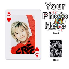 Suju Playing Cards By Mia Story   Playing Cards 54 Designs   Yap4e21nkrir   Www Artscow Com Front - Heart5