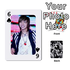 Suju Playing Cards By Mia Story   Playing Cards 54 Designs   Yap4e21nkrir   Www Artscow Com Front - Spade6