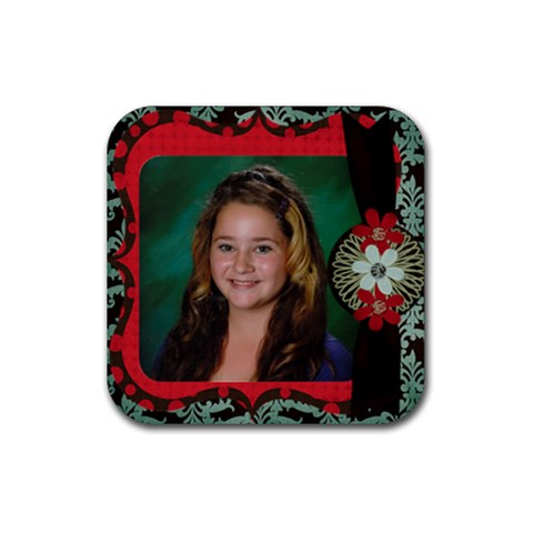 Coasterlindsay By Kim Rogers   Rubber Coaster (square)   2kyune0p5x33   Www Artscow Com Front