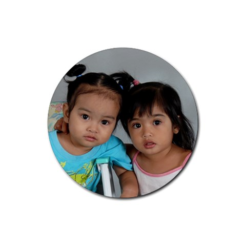 My Kids Photo Rubber Coaster By Jovilyn   Rubber Coaster (round)   Racjnx881fx1   Www Artscow Com Front