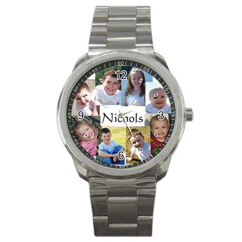 Watch For Family By Shari Nichols   Sport Metal Watch   E67ail230c94   Www Artscow Com Front