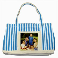 87514167 Striped Blue Tote Bag by ironman2222
