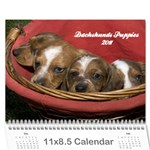12 month puppies - Wall Calendar 11 x 8.5 (12-Months)