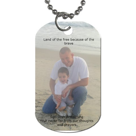 Josh Dog Tag By Angi   Dog Tag (one Side)   Bvif3h4wzgts   Www Artscow Com Front