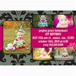 Peyton s First Birthday Invites - 5  x 7  Photo Cards