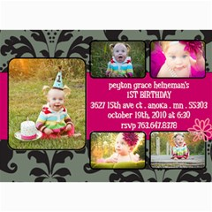 Peyton s First Birthday Invites By Sarah Heineman   5  X 7  Photo Cards   Lbtol6vjhsfu   Www Artscow Com 7 x5 Photo Card - 8