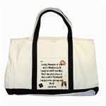 old and broken woman - Two Tone Tote Bag