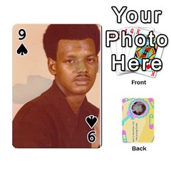 Larry Playing Cards By Lynne Lee   Playing Cards 54 Designs (rectangle)   Fro25irqic5b   Www Artscow Com Front - Spade9