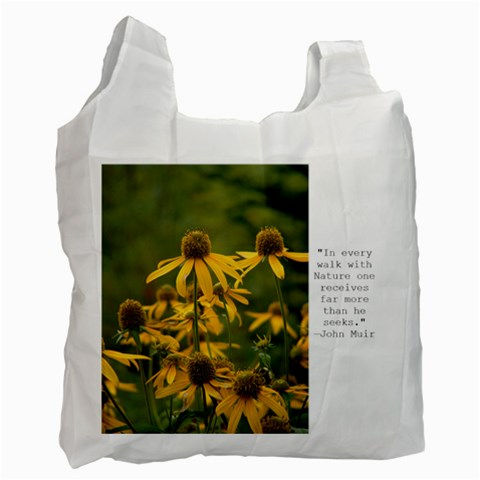 Wildflower Recycle Bag By Lesliefavs Gmail Com   Recycle Bag (one Side)   5oa4r3u6w3qn   Www Artscow Com Front