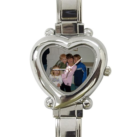 My Kids 2007 By Bridget Short   Heart Italian Charm Watch   Vt49u6ipt706   Www Artscow Com Front