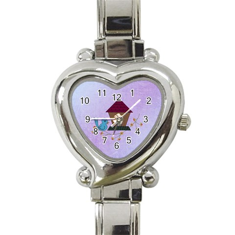 Allegra s Watch By Katie   Heart Italian Charm Watch   Vrrfxhzhqp58   Www Artscow Com Front
