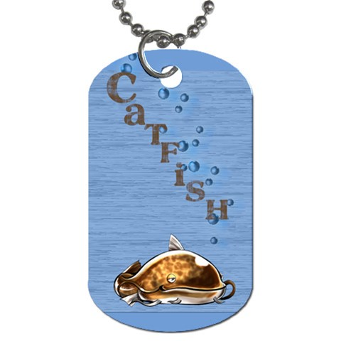 Catfish By Amarilloyankee   Dog Tag (one Side)   6uuqffvxh9ts   Www Artscow Com Front