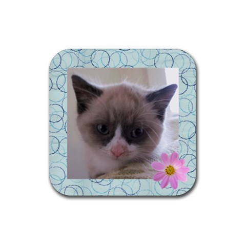 Myrtle Coaster 1 By Melissa   Rubber Coaster (square)   Jq6jkmnxjqy1   Www Artscow Com Front