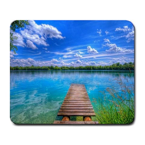 The Lake By Amy Bruskotter   Large Mousepad   0zohfb89ua8l   Www Artscow Com Front