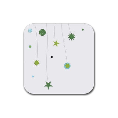 Stars And Lines By Brenda   Rubber Coaster (square)   3pj9bfz28qk1   Www Artscow Com Front