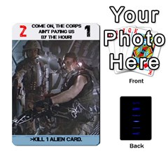 Aliens: This Time It s War Pt2 By Chris Hillery   Playing Cards 54 Designs   5j3xytumd0z3   Www Artscow Com Front - Heart5
