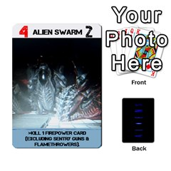 Aliens: This Time It s War Pt2 By Chris Hillery   Playing Cards 54 Designs   5j3xytumd0z3   Www Artscow Com Front - Diamond9