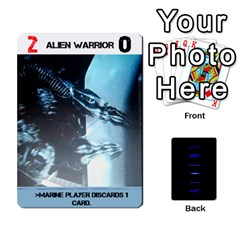 Queen Aliens: This Time It s War Pt2 By Chris Hillery   Playing Cards 54 Designs   5j3xytumd0z3   Www Artscow Com Front - ClubQ