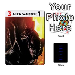 Aliens: This Time It s War Pt2 By Chris Hillery   Playing Cards 54 Designs   5j3xytumd0z3   Www Artscow Com Front - Spade9