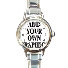 Custom Watch Face Round Italian Charm Watch by digitalmonkey