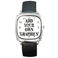 Custom Watch Face Square Metal Watch by digitalmonkey