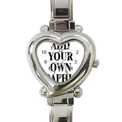 Custom Watch Face Heart Italian Charm Watch by digitalmonkey