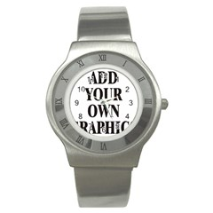 Custom Watch Face Stainless Steel Watch by digitalmonkey