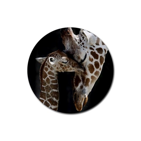 Giraffe By Jessica Huettl   Rubber Coaster (round)   J9ane622xumj   Www Artscow Com Front