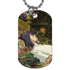 Howl Dog Tag Necklace By Mia Story   Dog Tag (two Sides)   Je7cf07gc4f9   Www Artscow Com Front