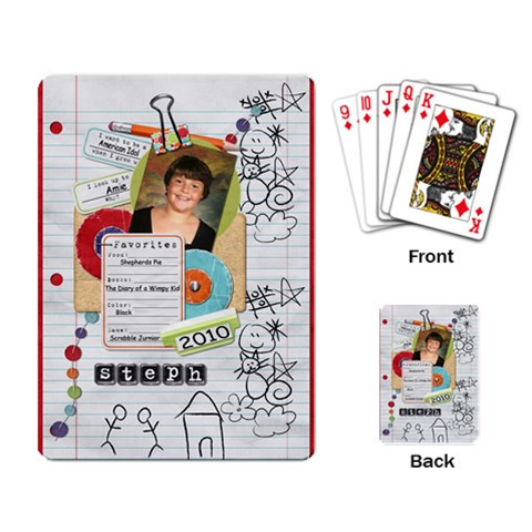 Steph s Single Design Playing Cards By Sheila Irish   Playing Cards Single Design   Fdnl1crlt65n   Www Artscow Com Back