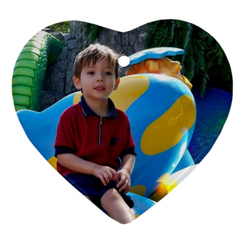 Christian At Busch Gardens By Julie Guess   Ornament (heart)   Vdiam5bcwo0r   Www Artscow Com Front