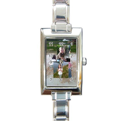 Jen Watch By Angela Emery   Rectangle Italian Charm Watch   Waq337jc9sai   Www Artscow Com Front