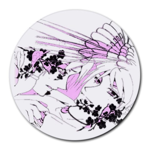 My Art By Heather Marie Myers   Round Mousepad   Iuxl47cqcjjj   Www Artscow Com Front