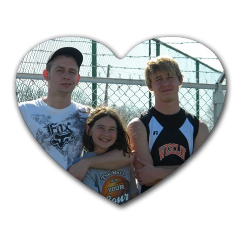 The Kiddos By Monica Collins Van Ness  Lightfoot   Heart Mousepad   3hl04fz72sto   Www Artscow Com Front