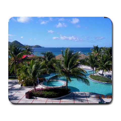 Honeymoon In St  Lucia By Megan Eskew   Large Mousepad   Asccpra9s1ea   Www Artscow Com Front