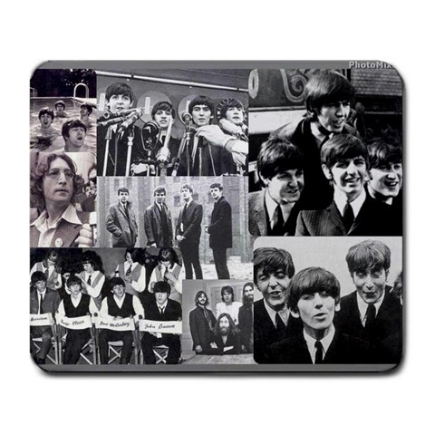 Beatles Colaggeee By Kasie   Large Mousepad   G15zq60ctn7e   Www Artscow Com Front